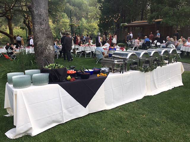 Buffet - Rogue River wedding