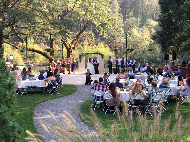 Ceremony - Rogue River wedding